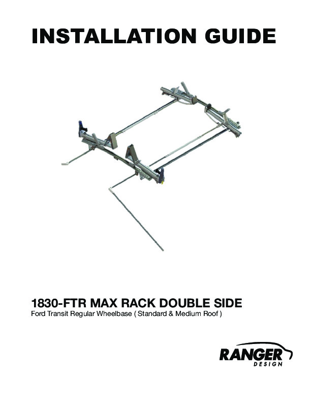 Max Rack Drop Down Ladder Rack, Double Side, Ford Transit